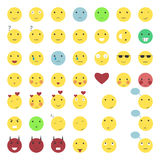 46 smile icons set Stock Photo