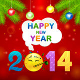 2014 smile idea illustration backgorund Stock Photo
