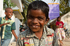Smile. Indian children
