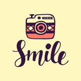 Smile Inspirational poster Stock Photo