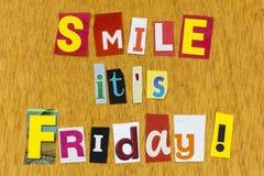 Smile its friday enjoy today be happy positive attitude