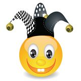 Smile in a jester hat Royalty Free Stock Photo