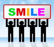 Smile Joy Represents Happiness Emotions And Happy Stock Images