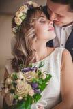 Smile kiss bride lips Royalty Free Stock Photos