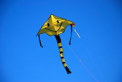 Smile kite. In the blue sky Royalty Free Stock Images