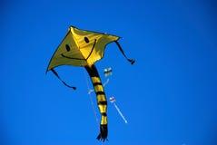 Smile kite. In the blue sky Stock Photo