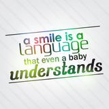 Smile is a language that even a baby understands Royalty Free Stock Photos