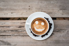 Smile latte Stock Images