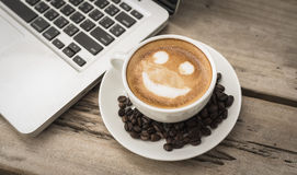 Smile latte Stock Image