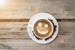 Smile latte Royalty Free Stock Photos