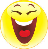 Smile laughs Stock Photo