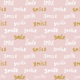 Smile lettering seamless pattern. Hand drawn sketched calligraphic signs, grunge textured retro badge, Vintage typography design p Royalty Free Stock Photography