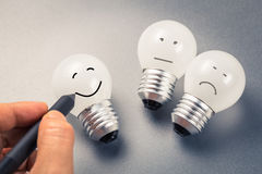 Smile Light Bulb Royalty Free Stock Image