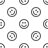 Smile line icon pattern Royalty Free Stock Image