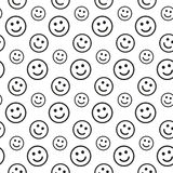 Smile lines seamless pattern Royalty Free Stock Image