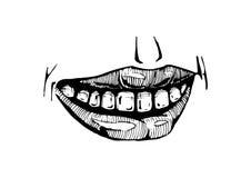 Smile lips isolated on white background Royalty Free Stock Image