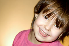 Smile of little girl Stock Photos