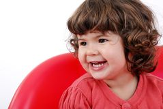 Smile of the little girl. Royalty Free Stock Photos