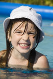 Smile of little girl in basin Royalty Free Stock Photography