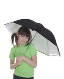 The smile little girl with umbrella Royalty Free Stock Photography