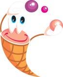 Smile little icecream with balls on holiday. Vector. Smile little icecream with balls on holiday stock illustration