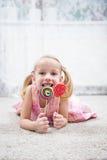 Smile lollipop Stock Image