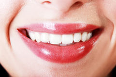 Smile macro Royalty Free Stock Image