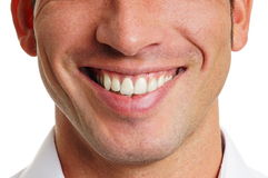 Smile of man. Beautiful smile of man close up Royalty Free Stock Photography