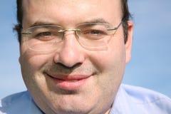 Smile man face Stock Photo