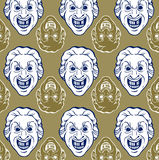 Smile man face pattern Stock Photo
