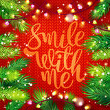 Smile with me card and holidays frame Royalty Free Stock Photography