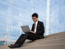 Smile me laptop royalty free stock image