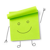 Smile message on adhesive note Royalty Free Stock Image