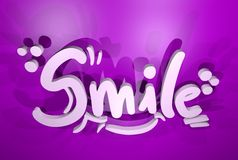 Smile message Stock Image