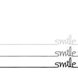 Smile message Stock Photo