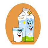 Smile milk Royalty Free Stock Photography