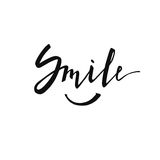 Smile. Modern brush calligraphy. Stock Images