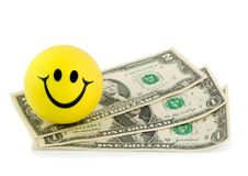 Smile money dollar Royalty Free Stock Photos