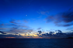 Smile moon on sea Royalty Free Stock Images