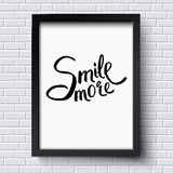Smile More Concept on a Black and White Frame Royalty Free Stock Image