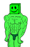 Smile muscle character Stock Photo