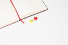 Smile notebook presentation Stock Photos