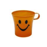 Smile orange cup. Stock Image