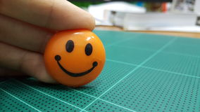 Smile. Orange smile icon Stock Image