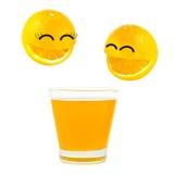 Smile orange Royalty Free Stock Photos