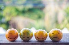 Smile orange. Smile and sad the orange Royalty Free Stock Images