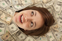 Smile out of money Stock Photos