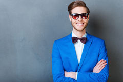 Smile is a part of his style. Royalty Free Stock Image