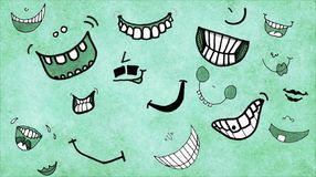 Smile. Part of set of ilustrations I did for childrens book named Get Lucky Royalty Free Stock Photography