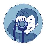 Smile photographer with camera Royalty Free Stock Photos